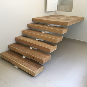 Centre spine Oak staircase