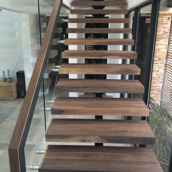 Centre spine Walnut staircase